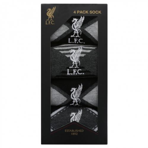 Liverpool F.C. 4pk Fashion Socks Mens 7-11