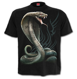 Serpent Tattoo - Front Print T-Shirt Black