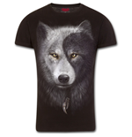 Wolf Chi - T-Shirt Modern Cut Turnup Sleeve Black