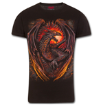 Dragon Furnace - T-Shirt Modern Cut Turnup Sleeve Black