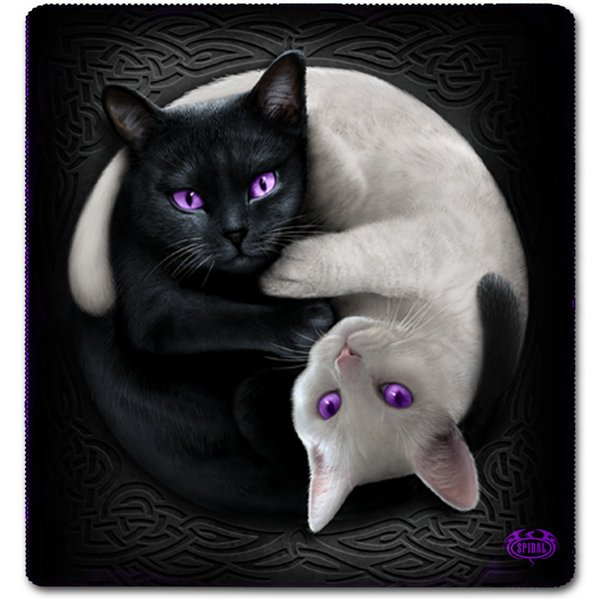 Yin Yang Cats - Jumbo Fleece Blanket with Doube Sided Print
