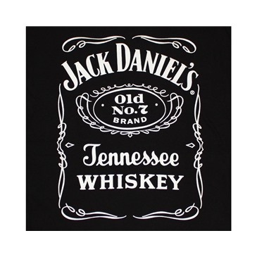 Jack Daniel's Old No. 7 Whiskey Logo Black Graphic TShirt