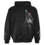 Dead Kiss - Full Zip Hoody Black