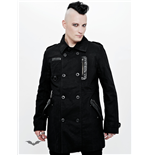 Elegant jacket with leather appliqué