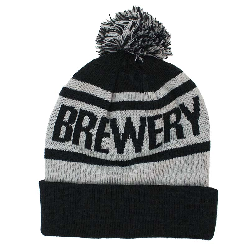 Navy And Grey Visual Merchandising Shop Display November: Official BROOKLYN BREWERY Winter Pom Beanie: Buy Online On
