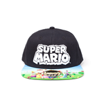 Nintendo - Super Mario Black Snapback With Printed Bill