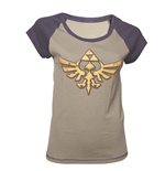 Zelda - Grey Melange Logo Female T-shirt