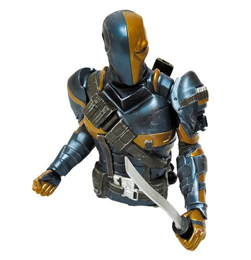 Batman Arkham Origins Bust Bank Deathstroke Previews Exclusive 15 cm