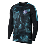 2017-2018 Chelsea Nike Dry LS Squad Training Shirt (Black) - Kids