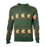 NINTENDO Legend of Zelda Men's Kitted Pixel Link Christmas Sweater, Extra Large, Green