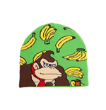 NINTENDO Donkey Kong Bananas Kids Cuffless Beanie, One Size, Multi-colour