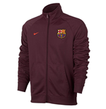 2017-2018 Barcelona Nike Core Trainer Jacket (Maroon)