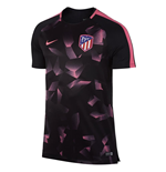 2017-2018 Atletico Madrid Nike Pre-Match Dry Training Shirt (Black)