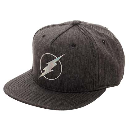 The FLASH Iridescent Grey Snapback Hat