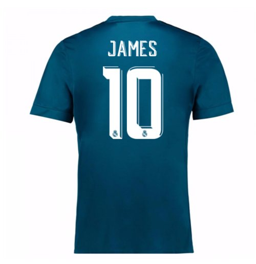 2017-18 Real Madrid Third Shirt (James 10) - Kids