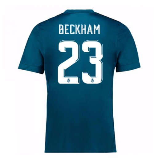 2017-18 Real Madrid Third Shirt (Beckham 23) - Kids