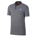 2017-2018 Chelsea Nike Authentic Grand Slam Polo Shirt (Anthracite)