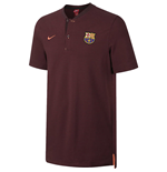 2017-2018 Barcelona Nike Authentic Polo Shirt (Night Maroon)
