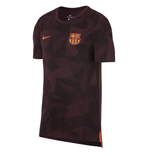 2017-2018 Barcelona Nike Dry Match Tee (Night Maroon)