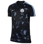 2017-2018 Man City Nike Pre-Match Training Shirt (Black) - Kids
