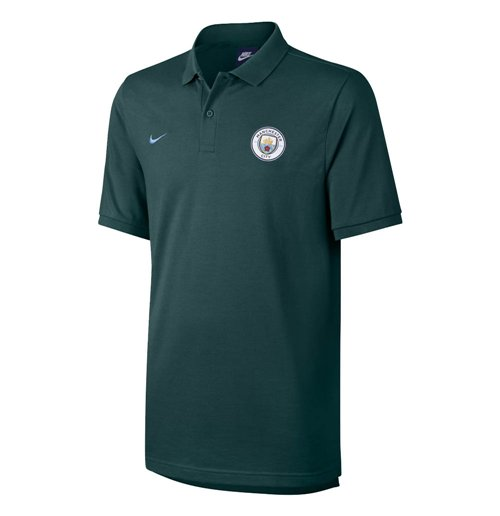 2017-2018 Man City Nike Authentic Grand Slam Polo Shirt (Outdoor Green)