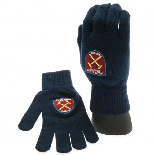 West Ham United F.C. Knitted Gloves Adults