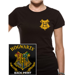 Harry Potter - Colour Crest - Women Fitted T-shirt Black