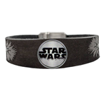 Star Wars Clicks Leather Bracelet Chewbacca / Logo Click Grey