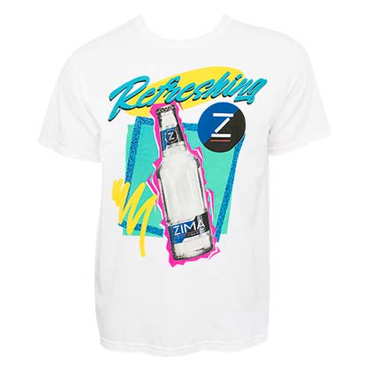 ZIMA Retro Logo White Tee Shirt