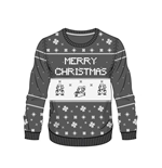 Nintendo Sweater Grey Mario X-mas