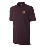 2017-2018 Barcelona Nike Core Polo Shirt (Night Maroon)