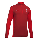 2018-2019 Wales Rugby WRU 1/4 Zip Training Top (Red)