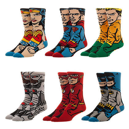JUSTICE LEAGUE Character Men's Ankle Sock Set