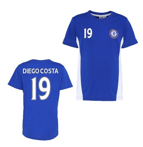 Official Chelsea Training T-Shirt (Blue) (Diego Costa 19)