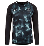 2017-2018 PSG Nike LS Pre-Match Training Shirt (Black)