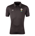 2018-2019 Wales Rugby WRU Team Polo Shirt (Anthracite)