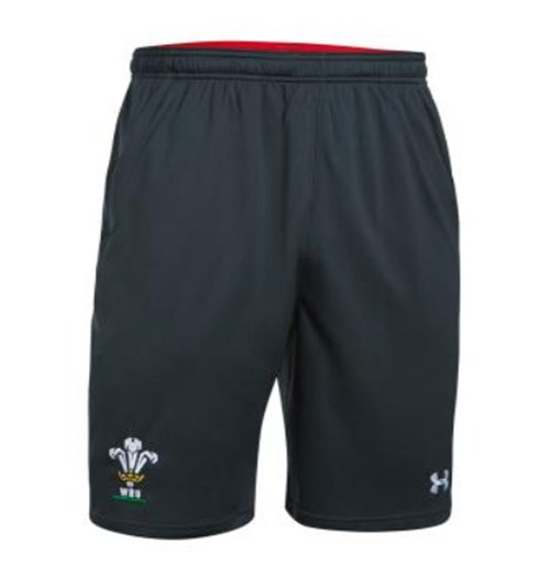 2018-2019 Wales Rugby WRU 9 Inch Mesh Shorts (Anthracite)