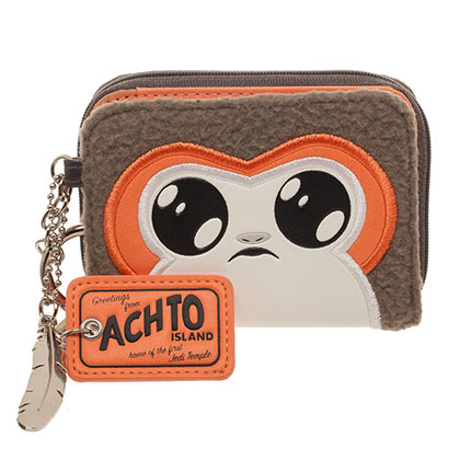 STAR WARS Episode 8 Juniors Porg Zipper Wallet
