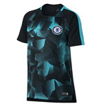 2017-2018 Chelsea Nike Dry Squad Training Shirt (Black) - Kids