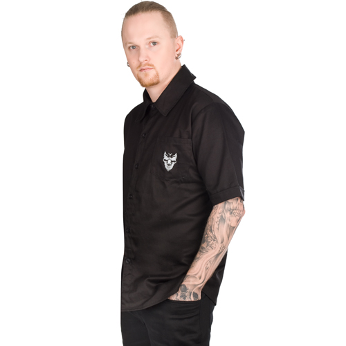 Mode Wichtig Casual Shirt Cotton Skull