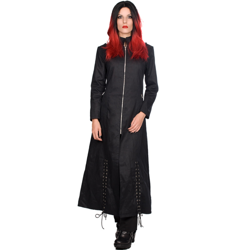 Black Pistol Ladys Ring Coat Denim
