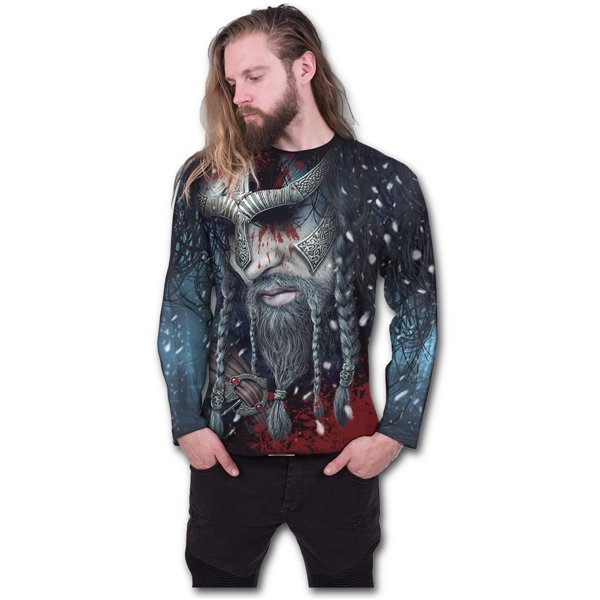Viking Wrap - Allover Longsleeve T-Shirt Black