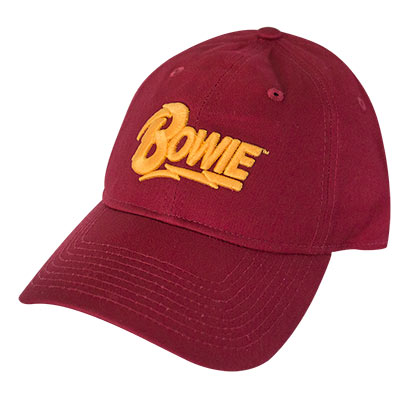 DAVID BOWIE Text Logo Red Hat