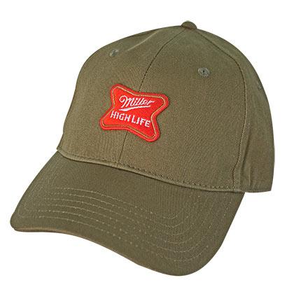 dcb39e9ed MILLER High Life Logo Army Green Hat