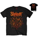 Slipknot Men's Tee: The Wheel with Back Printing