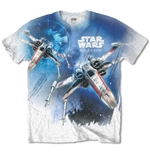 Star Wars Men's Tee: Rogue One X-Wing with Sublimation Printing