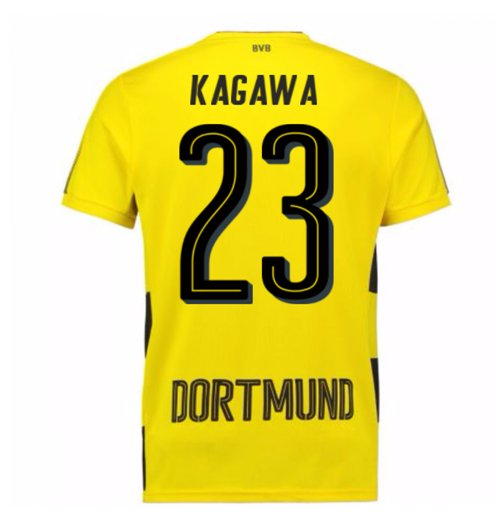 2017-18 Borussia Dortmund Home Short Sleeve Shirt (Kids) (Kagawa 23)