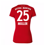 2017-18 Bayern Munich Home Womens Shirt (Muller 25)