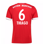 2017-18 Bayern Munich Home Short Sleeve Shirt (Thiago 6)