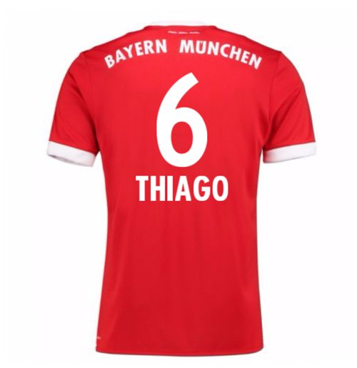 2017-18 Bayern Munich Home Short Sleeve (Kids) (Thiago 6)